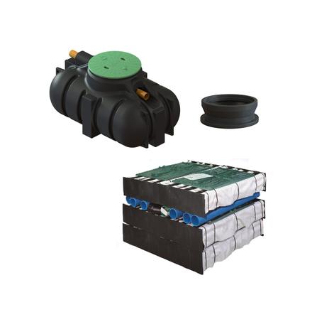 VOTEC SLAMAVSKILJARE 1,2 M BIOMODUL PKT Med förhöjningsstos, 250 mm Avstånd marknivå 470 mm