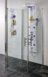 Sandra 3-v�ggars U-dusch 90x90x90 cm - Klart glas