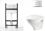 V�ggh�ngd WC komplett kit IF�/Alterna