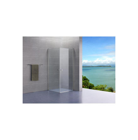 Lusso duschvägg rak komplett klarglas