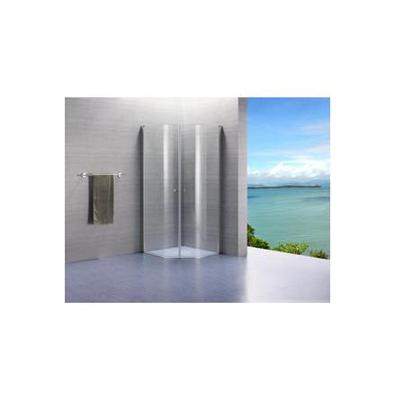Lusso duschvägg svängda komplett klarglas