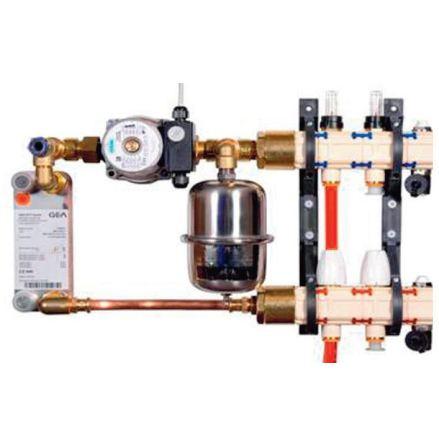 Golvvärme uterum för anslutning till befintligt radiatorsystem