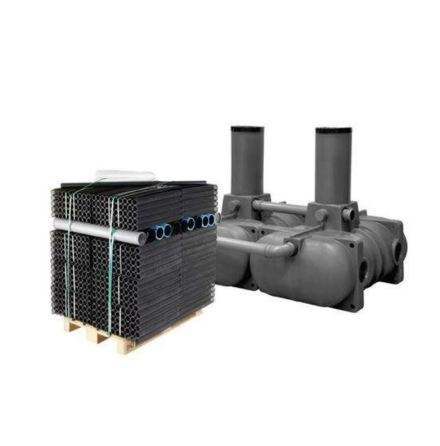 Ecoplus Slamavskiljare 2 m3 lågbyggd BDT + WC med Biomodulspaket