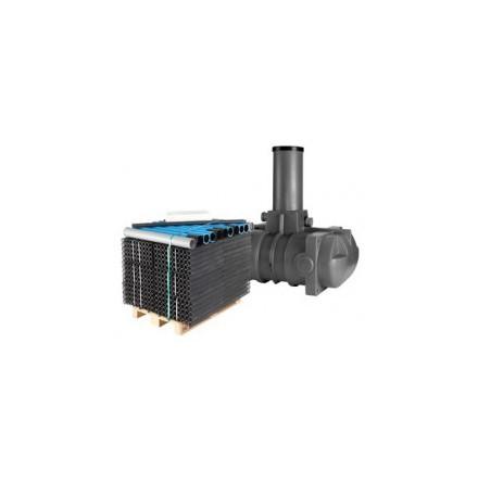 Terana Slamavskiljare 1m³ lågbyggd BDT ink. biomodul 6-pack